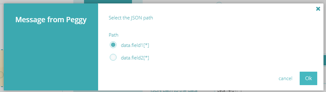 Step 3: http - select JSON data set