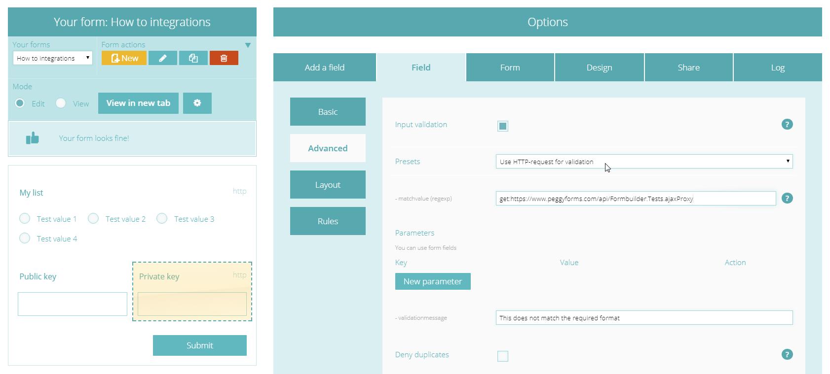 Step 3: http validation
