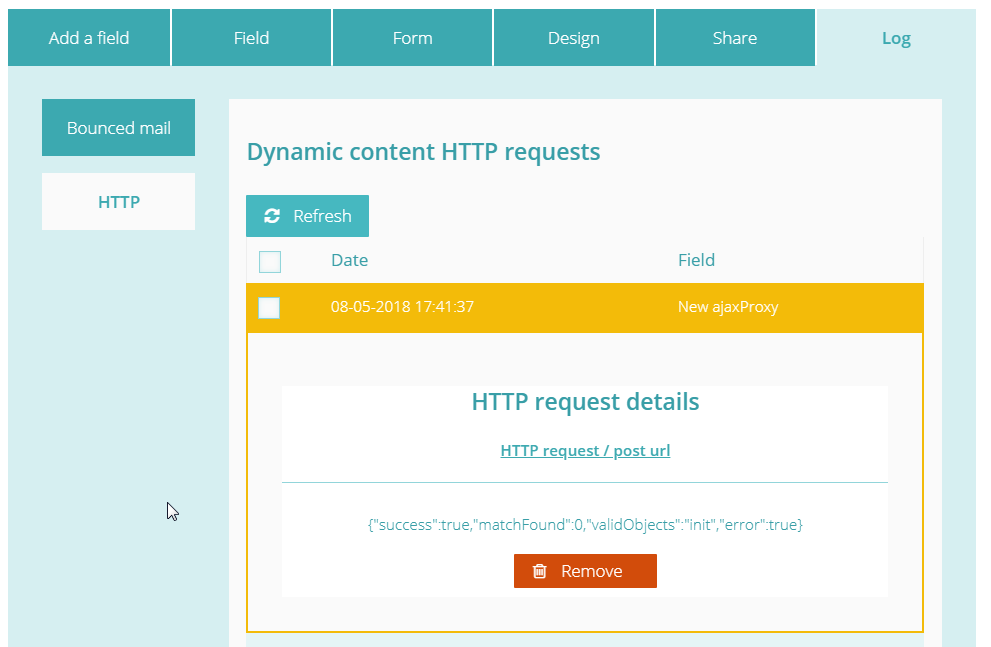 Debugging HTTP requests